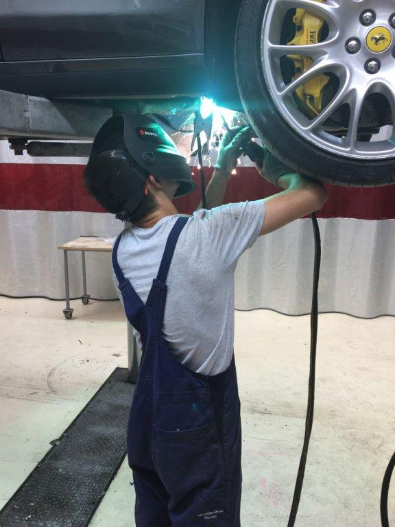 popravilo najetega avtomobila