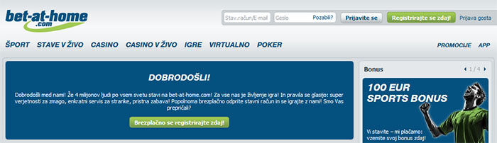 Stavi od doma na internetni stavnici Bet at Home